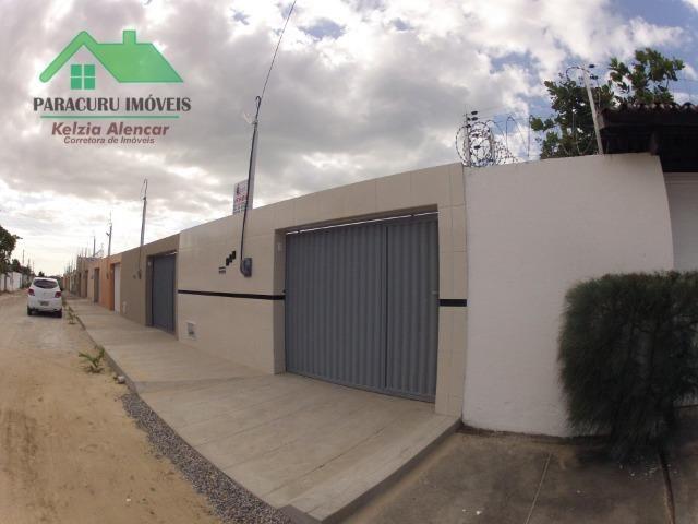 Ampla casa nova de três quartos financiada em Paracuru