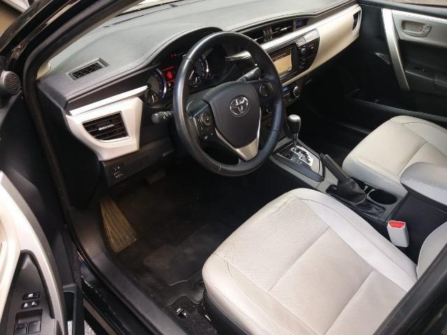 Toyota Corolla 2015 2.0 Xei Preto Flex Automatico Impecavel - Foto 6