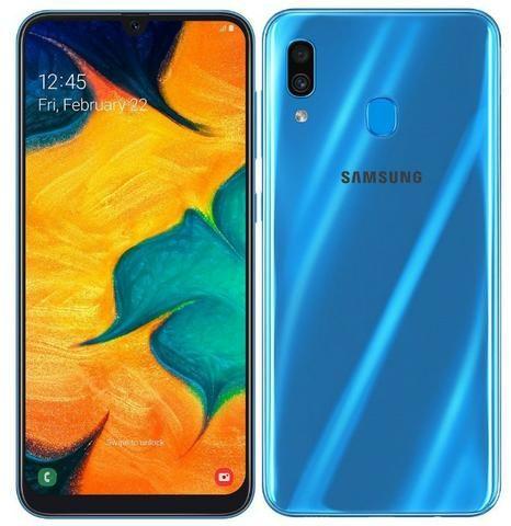 """Celular Samsung A30 A305G 32GB / 4G / Dual Sim / Tela 6.4"""" / Cameras 16MP + 5MP e 16MP"""