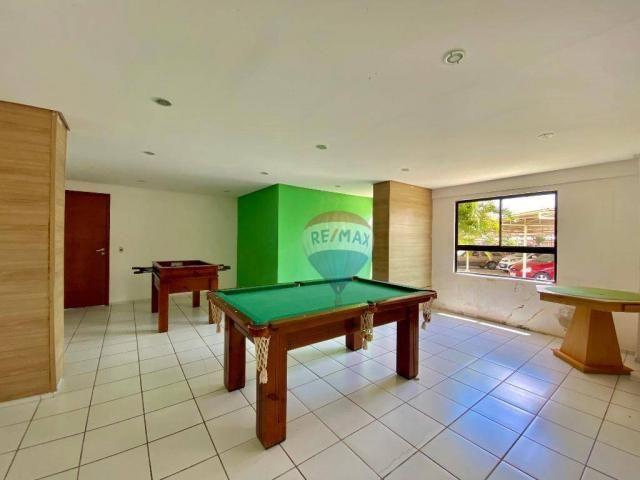 Apartamento com 2 dormitórios à venda, 59 m² por r$ 190.000 - pitimbu - natal/rn sun garde - Foto 11
