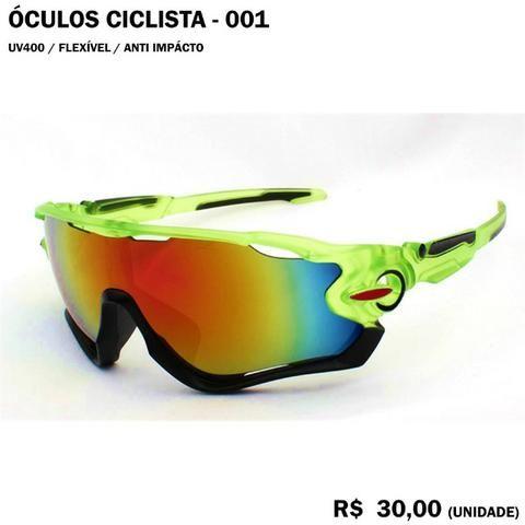 Óculos de Ciclismo com Proteção UV 400 Armação Verde Modelo 001