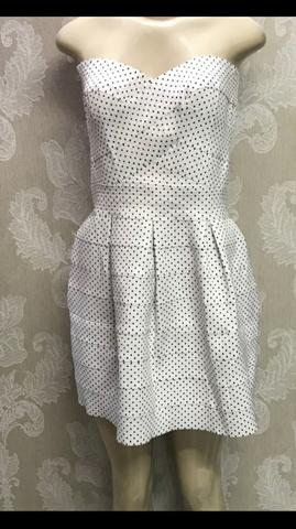 Vestido Poás, rodado, tomara que caia, anos 60, lindo, tamanho 44 - Foto 2