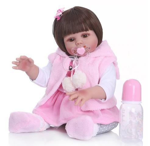 Boneca Reborn Bebê Coelinha toda de Silicone - Foto 3