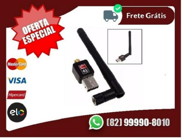 Peça-ja.aSua-Adaptador Usb Wifi 600mbps Antena s