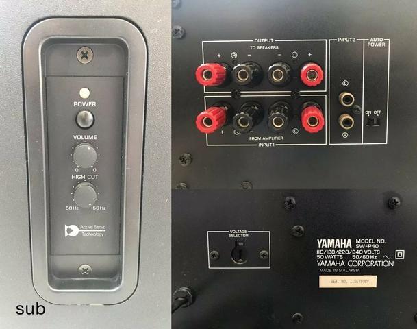 Home Theater Onkyo HT-r570 750w RMS com caixas Yamaha som incrível - Foto 5