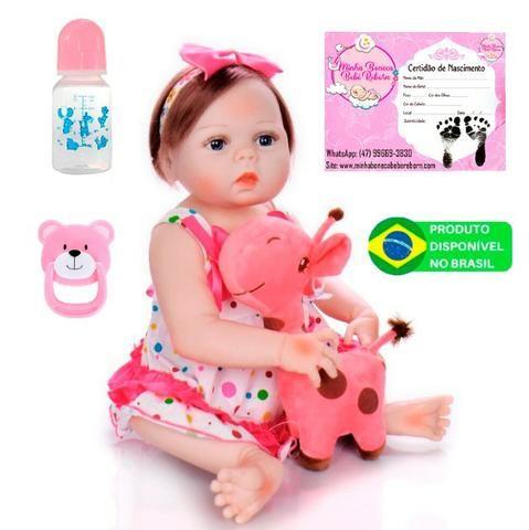 Boneca bebê Reborn Realista Silicone 57cm
