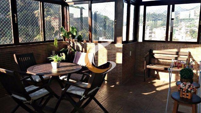 Cobertura com 3 dormitórios à venda, 170 m² por R$ 630.000 - Centro - Petrópolis/RJ - Foto 4