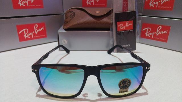 Óculos Sol RayBan Azul espelhado - Bijouterias, relógios e ... 64307ad33f