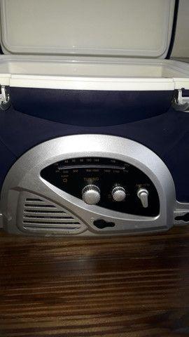 Radio/cooler para pesca