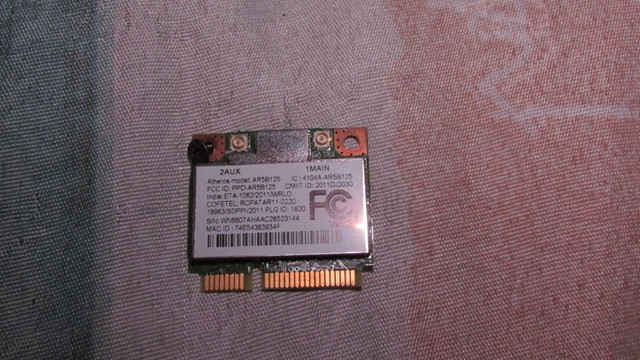 Placa Wifi do notebook Acer Aspire E1-421-0409.