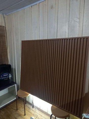 Painel  ripado  120x115 com Led na parte inferior  200 pila - Foto 5