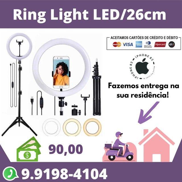 Ring Light Led 26 + Tripé de 2,10 metros
