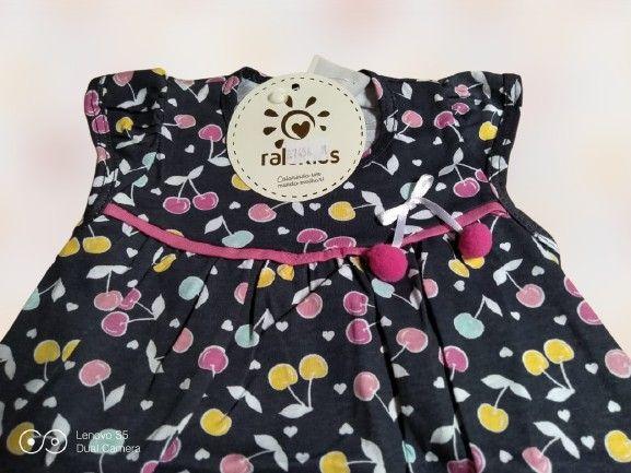 Vestido Bebê Regata Cerejinhas Tam. M Ralakids Ref. 7456 - NOVO - Foto 2