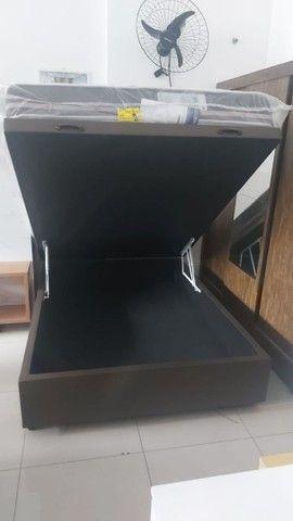 Cama Box Casal molas com baú (Frete grátis para alguns bairros) - Foto 3