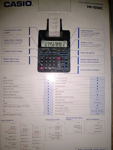 Calculadora c/impressão Casio HR -100  - Foto 4