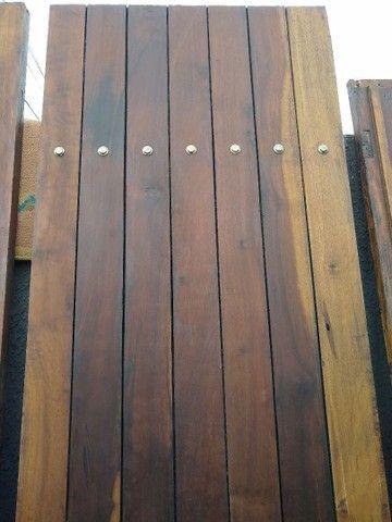 Porta dupla imbuia maciça 1,40 x 2,35 - Foto 4