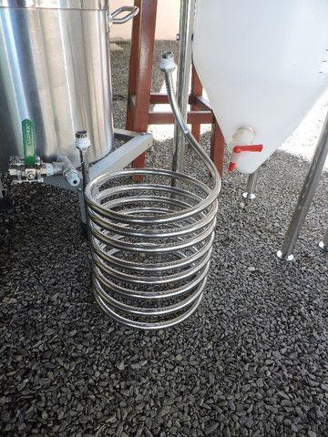Kit fabricação cerveja artesanal, elétrico, todo em inox, para 20l (Criciúma-SC) - Foto 6