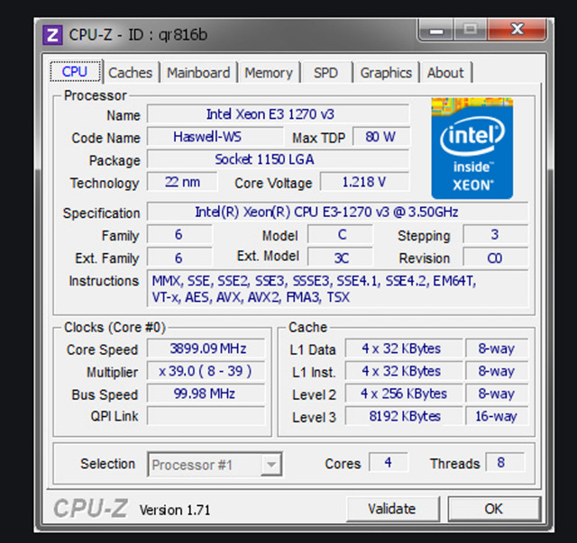 Intel Xeon E3 1270 v3 Usado, 3,5 GHz, 4/8 Similar I7 4770 - Foto 4