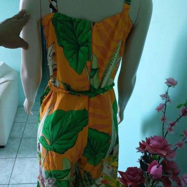 Macacão pantalona Feminino floral - Foto 2