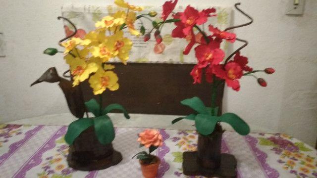 Orquidias e flores em E V A