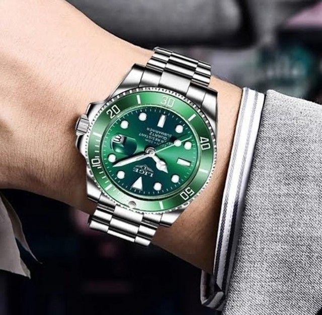 Relógio Masculino Lige 10045 Luxo Original Top Super Oferta - Foto 5
