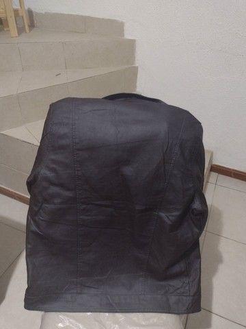 Uma jaqueta de couro legítimo  - Foto 4