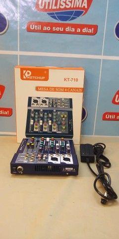 Mesa de som Bluetooth 4 canais  LE-708  -Entrega Grátis  - Foto 2