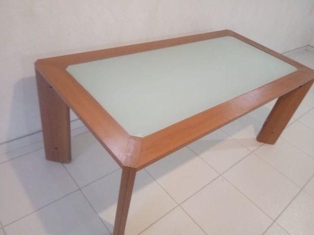 Mesa com vidro medidas na descriçao