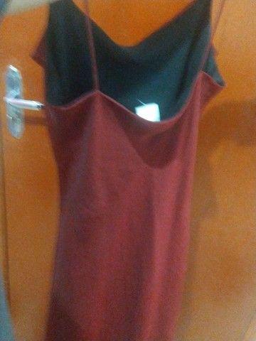 vestido sexy vermelho chique - Foto 4
