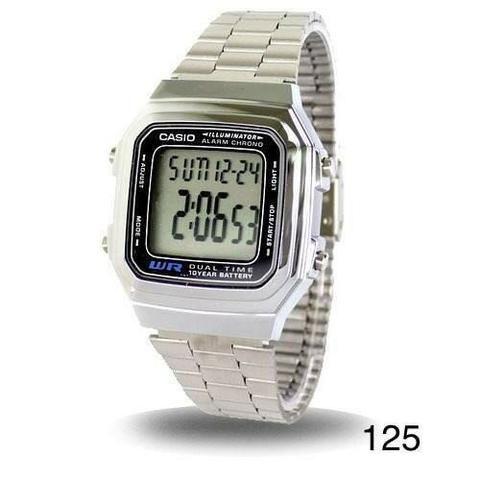 091126b018f Relogio Casio Vintage Prata Top WR178 - Bijouterias