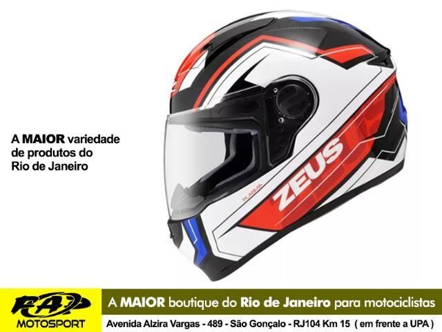 Capacete Moto Zeus 811 Black AL5 Blue