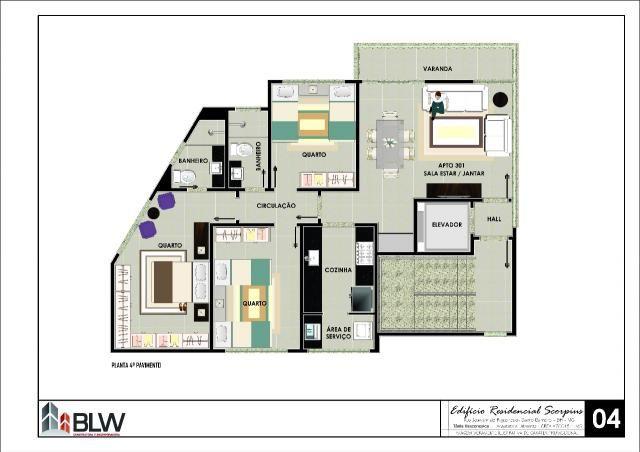 Apartamento à venda, 3 quartos, 2 vagas, barreiro - belo horizonte/mg - Foto 9