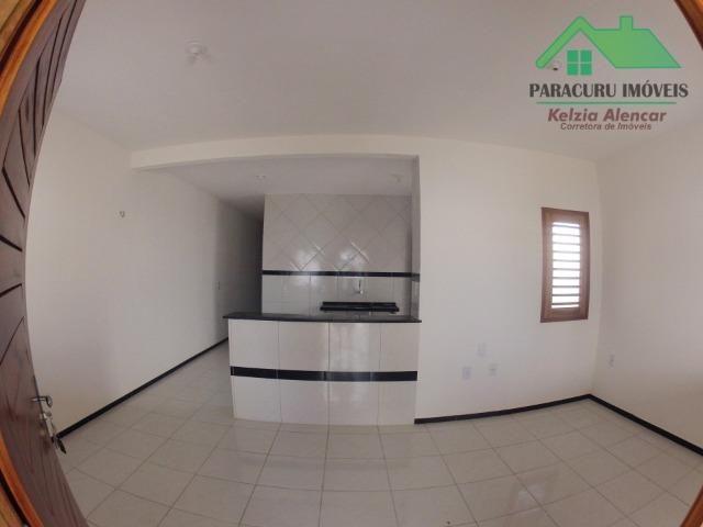 Ampla casa nova de três quartos financiada em Paracuru - Foto 3
