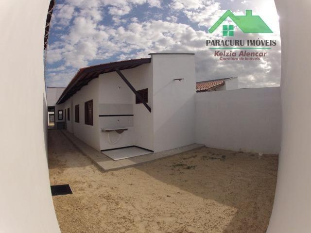 Ampla casa nova de três quartos financiada em Paracuru - Foto 13