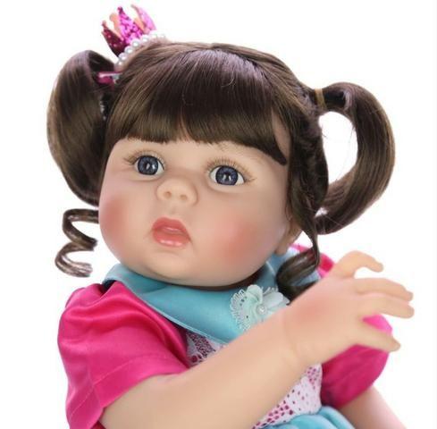 Bebê Reborn Boneca Grande Toda de Silicone 57Cm - Foto 2