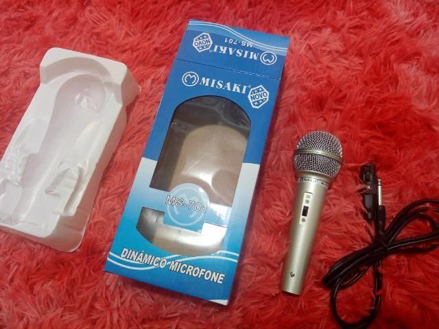 Microfone misaki com cabo - Foto 2
