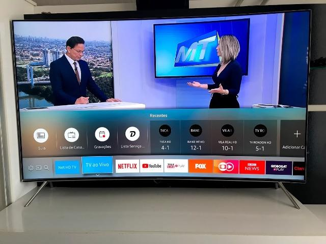 Premium TV - SmartTv 55? SUHD 4K Hdr Premium Tela Curva Samsung - Foto 5