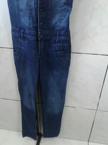 Macacão jeans comprido - Foto 2