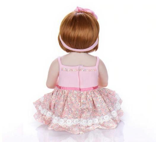 Pronta Entrega Boneca Bebê Reborn Ruiva 57cm - Foto 2
