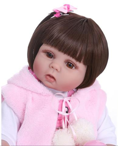 Boneca Reborn Bebê Coelinha toda de Silicone - Foto 6