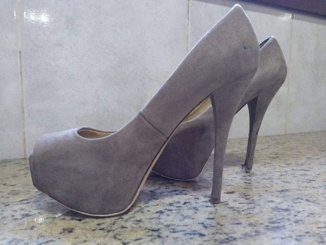 Sandália Salto Zara Basic - Foto 2