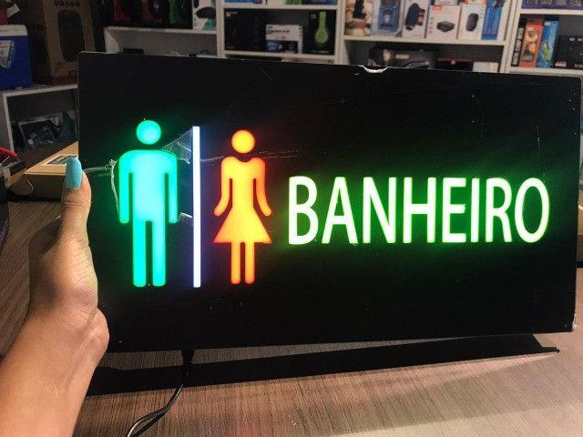 Painel de led que pisca de banheiro e de proibido fumar - Foto 2