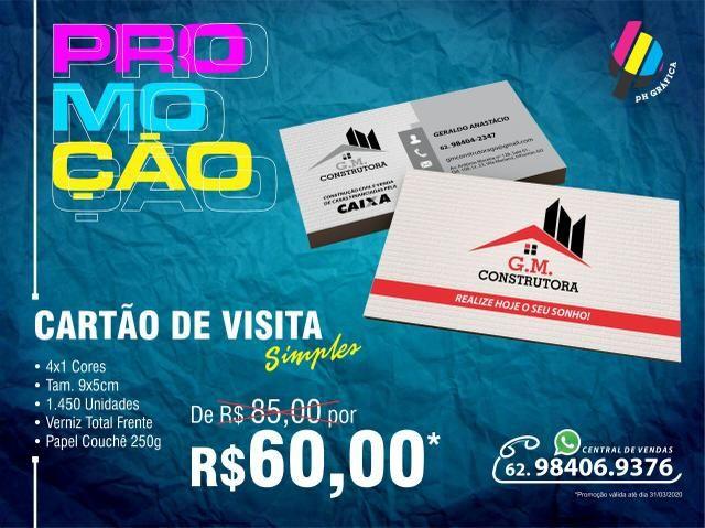 Só aqui! Cartão de Visita mais barato do Brasil