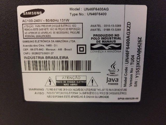 Smart Tv Slim Led 3d 46 Samsung un46f6400 Full Hd - Foto 4