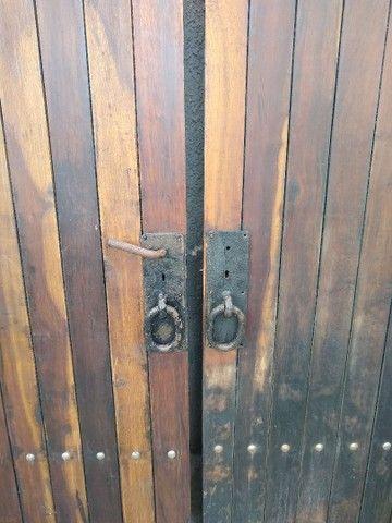 Porta dupla imbuia maciça 1,40 x 2,35 - Foto 2