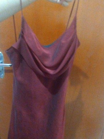 vestido sexy vermelho chique