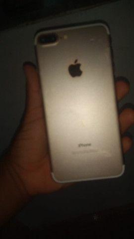 Carcaça de iPhone 7plus gold - Foto 3