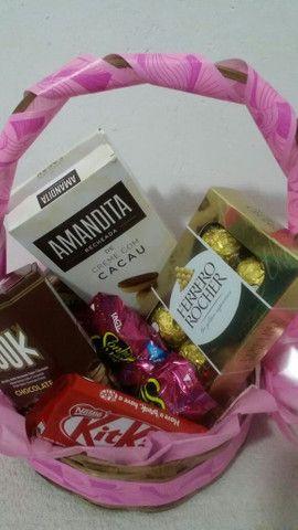 Cestas de chocolates para Páscoa  - Foto 4