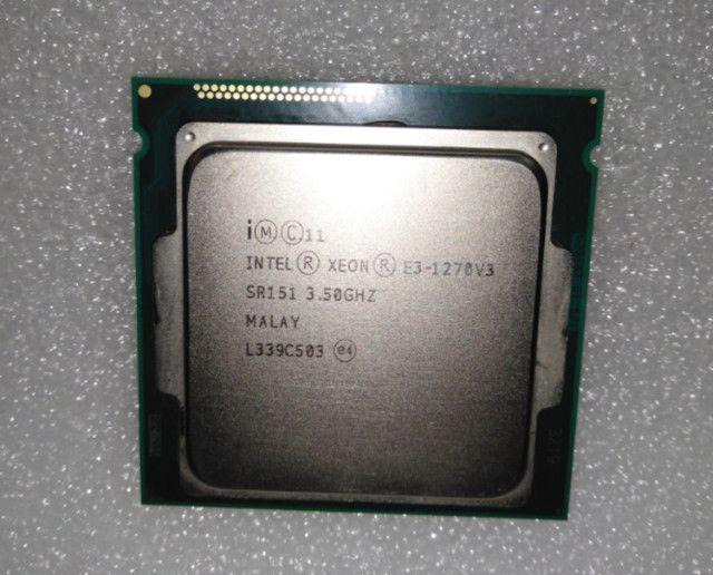 Intel Xeon E3 1270 v3 Usado, 3,5 GHz, 4/8 Similar I7 4770 - Foto 2