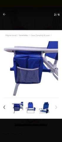 Cadeira De Praia Reclinável Com Bolsa Térmica - Foto 4